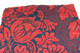 Americana Red Blue Woven Coverlet Quilt Piece Repurpose Stack - $18.95