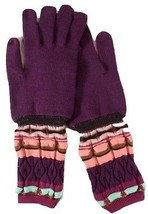 """MISSONI MULTICOLORED """"STRIPED"""" WOOL KNIT GLOVES - M - $117.81"""