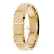 14K Yellow Gold Wedding Bands Rings Mens Womens 14K Gold Wedding Band Ri... - $372.13
