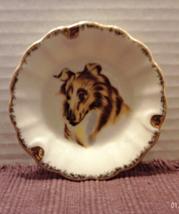 Vintage Small Porcelain Collie Dog Ashtray // Ring Dish // Trinket Dish - $7.02