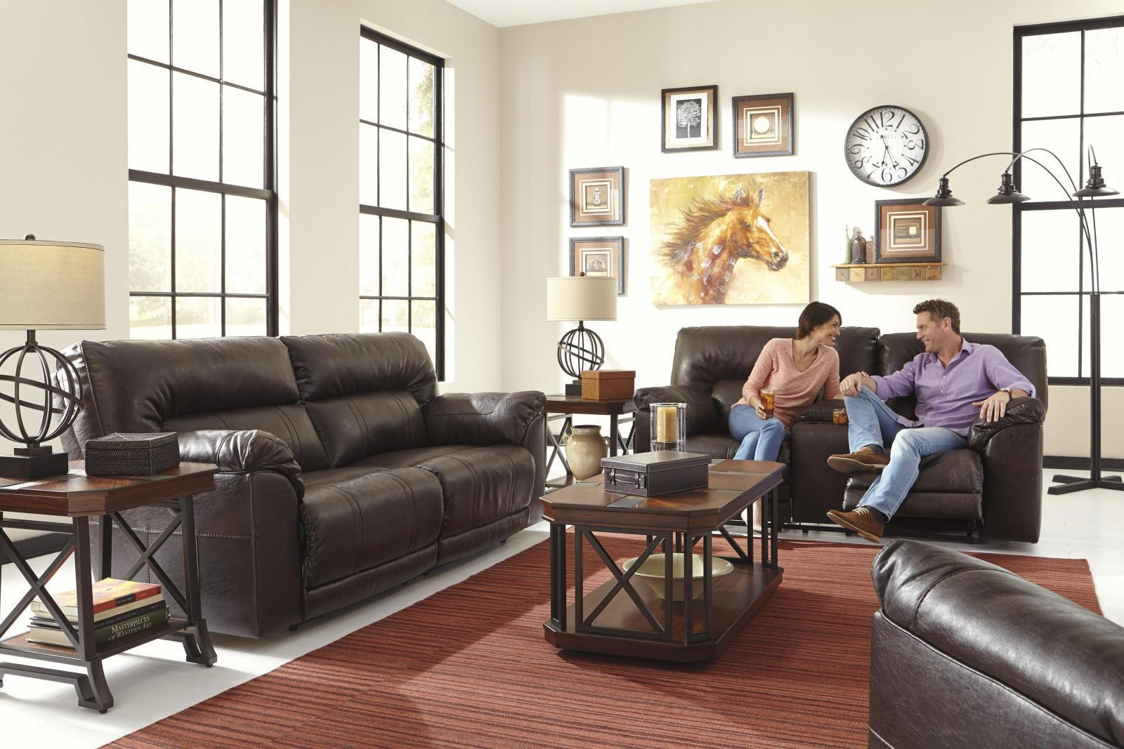 Ashley Barrettsville DuraBlend 3 Piece Living Room Set in Chocolate Non Power