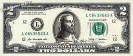 $2 Bill JESUS on A REAL Dollar Bill Cash Money Collectible Memorabilia B... - $8.88