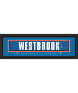 Russell Westbrook OC Thunder Player Signature Stitched Jersey Framed Print - $39.95