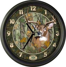 American Expedition Whitetail Deer Camo Wall Clock 16 inch diameter  - $32.71