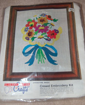"""American Family Crafts Crewel Embroidery kit SPRINGTIME MAGIC 8"""" x 10"""" V... - $12.87"""