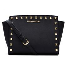 Michael Kors Women's Selma Stud Messenger Crossbody Bag Black - $175.00