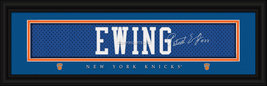 Patrick Ewing NY Knicks Vintage Player Signature Stitched Jersey Framed ... - $39.95