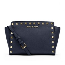 Michael Kors Women's Selma Stud Messenger Cross... - $199.00
