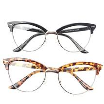 Reading Glasses Semi-rimless Cat Eye Women Elegant Magnifying Eyeglasses... - $17.67+