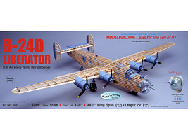 Guillow's Consolidated B-24D Liberator WWII Giant Balsa Wood Model Kit  ... - $103.95