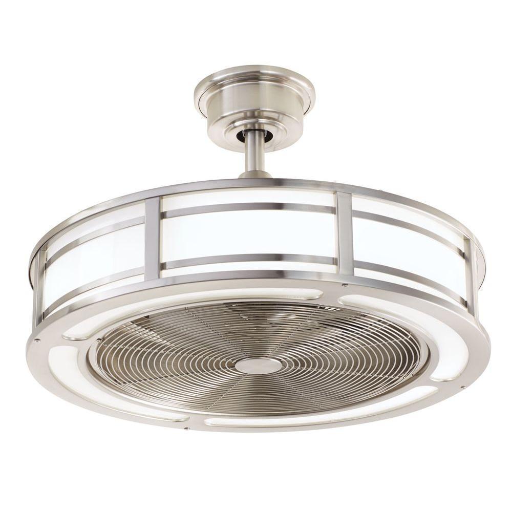 New modern home unique indoor outdoor brushed nickel Unique outdoor ceiling fans