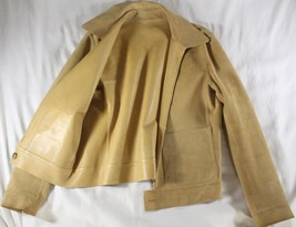 "LORO PIANA ""REVERSIBLE"" SUEDE / LEATHER BUTTERSCOTCH BOMBER JACKET ~ 8 - $1,711.24 CAD"
