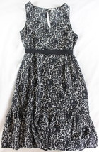 "~~~ RAVISHING PRINT! ~~~ JOIE SILK ""LACE/FLORAL PRINT"" BELTED DRESS ~ XS/S - $100.05"