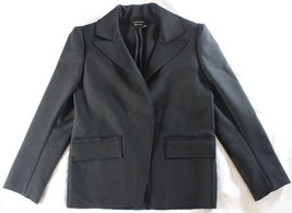 "~~~ BUSINESS LUXE ~~~ LANVIN HIVER 2010 BLACK ""FRAYED-TRIM"" JACKET/BLAZE... - $180.92"