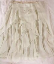"""~~ ROMANCE ME! ~~~ DIVINE CHLOE WINTER WHITE """"TIERED/LAYERED"""" SILK SKIRT... - $273.21"""