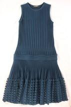"~~~ FORM FITTING! ~~~ ROBERTO CAVALLI PEACOCK ""DROP WAIST/3D HEM"" DRESS ... - £152.65 GBP"