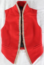 "~~~ ETHNIC GLAM ~~~ BIRD BY JUICY COUTURE NWT RED ""BEADED TRIM"" VEST ~~~... - $82.75"