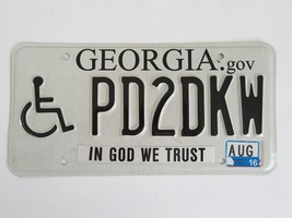 2010 Georiga Handicap License Plate - $9.99