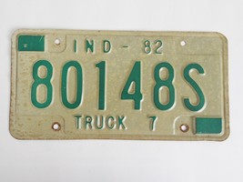 1982 Indiana Truck License Plate 80148S - $9.99