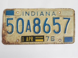 1976 Indiana License Plate 50A8657 - $9.99