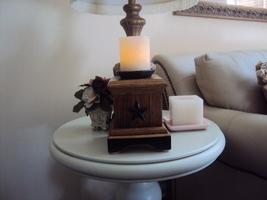 Handmade Pine Candleholder Set of Two - $45.00
