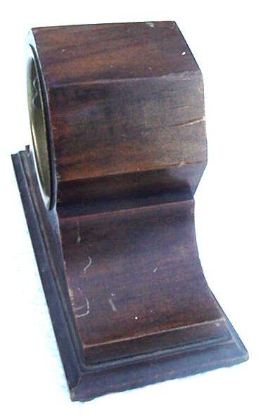 Antique Ansonia Small Shabby Wood Shelf Mantle Clock
