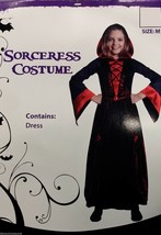 DELUXE SORCERESS HOODED DRESS COSTUME HALLOWEEN COSTUME MEDIEVAL CHILD S... - $26.69