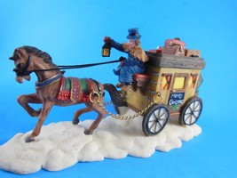 """Mint in Box Dickens Collectibles Accessories Resin Christmas Carriage 7"""" 1998 - $13.85"""