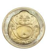 12oz Argento Fine Collecable Rotonda Buddha / Fiore di Loto Modello Bico... - $321.16