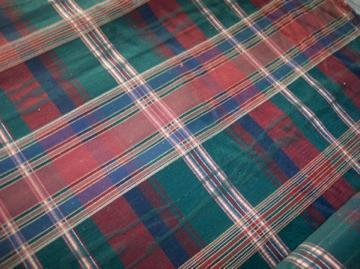 Green/Red/Blue Print Fabric/Upholstery Fabric  1  Yard  F1007