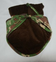Mudpie HSZ 30514 Baby Green Brown Camo Hooded Towel 100 Precent Cotton image 2