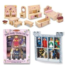 Melissa & Doug Deluxe Wooden Princess Castle Ac... - $62.22