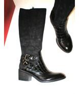 New Womens 5.5 Designer Donald J Pliner Tall Boots Black NIB Dulce Ridin... - $485.00