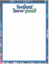 Happy New Year Hats Stationery Printer Paper 26 Sheets - $9.89