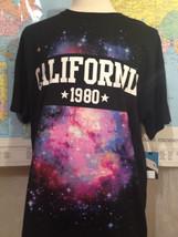 NWT California 1980 Black Short Sleeve Cotton T-Shirt Size XL Hawk - $14.30