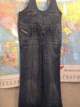 Diesel Youth Blue Denim Zipper Straight Leg Overalls Size 14 - $123.75