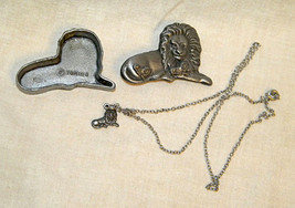 Vintage Torino Pewter Lion 3 piece jewelry set - $8.99