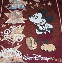 Walt Disney World Mickey Mouse Throw Blanket Woven Cinderella Castle Epcot - $79.95