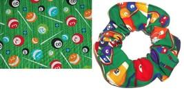 Hair Scrunchie Pool Balls Billiards Tie Ponytail Holder Scrunchies by Sherry New - $6.99+