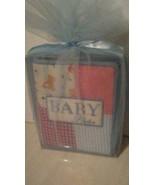Baby Essentials Fabric Baby Album Blue holds 100 4x6 photos New baby sho... - $14.95