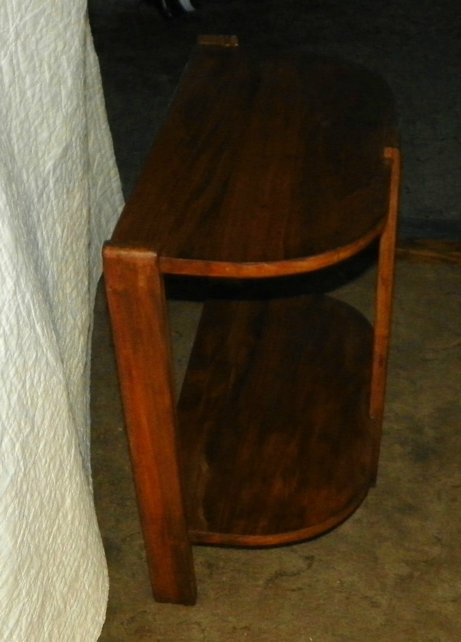 Mahogany & Pine 2 Tier Side Table / End Table  (JLC-T227)