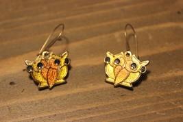 Vintage Enamel Owl Dangle Earrings - $19.80