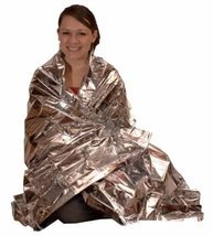 Poket Size Silver Outdoor Emergency Survival Camping Warm Blanket - One Item image 3