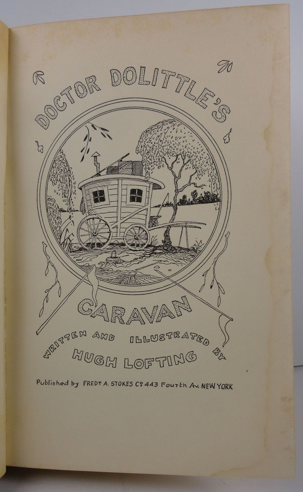 Doctor Dolittle's Caravan by Hugh Lofting 1927 Stokes HC/DJ