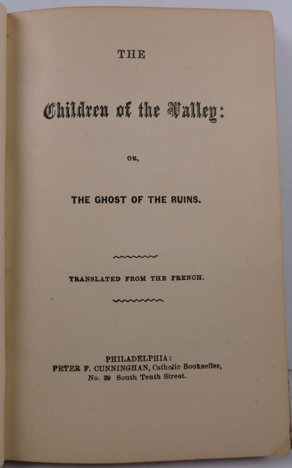 The Children of the Valley or The Ghost of the Ruins
