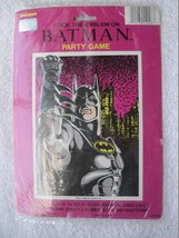 Unique Batman Stick Emblem Party Game Pin Tail on Donkey 1992 D.C. Comic... - $5.00