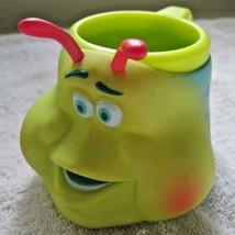 Pixar Disney's A Bug's Life Heimlich Catepillar Head Plastic Character Mug READ - $20.00