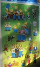 Matt Groening Simpson's The Movie Shiny Stickers Lisa Bart Maggie Homer Marge - $10.00