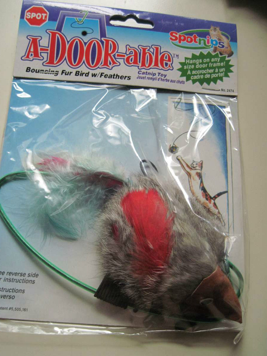 Spot Nips Over Door A-Door-Able Bouncing Mouse Catnip Cat Toy Clip Hanger Cord