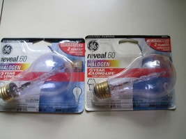2 GE Reveal 60W With Halogen A16 675 Lumens General Purpose Light Bulb 3... - $16.00